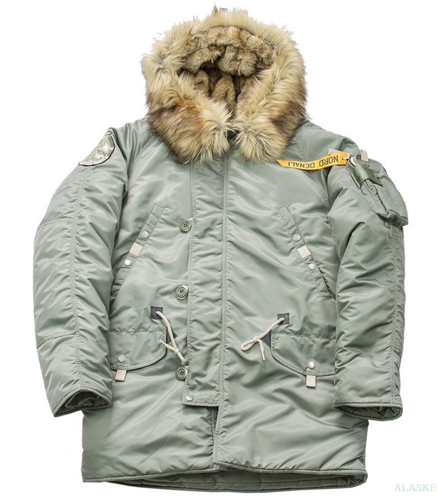 Аляска N3B HUSKY MILITARY GREEN BAY/GREEN BAY