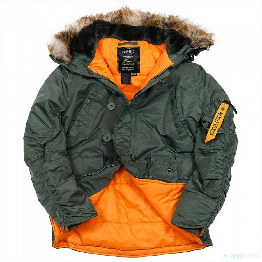Аляска N3B HUSKY II SAGE GREEN/ORANGE