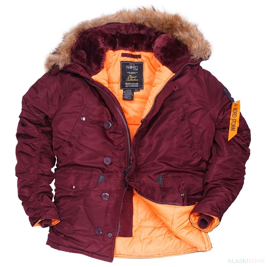 Аляска N3B HUSKY II MAROON/ORANGE